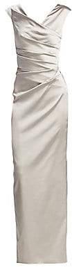 Talbot Runhof Women's Stretch Satin Gown