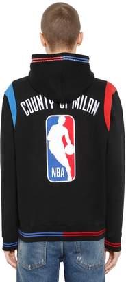 Marcelo Burlon County of Milan Nba Embroidered Cotton Sweatshirt Hoodie