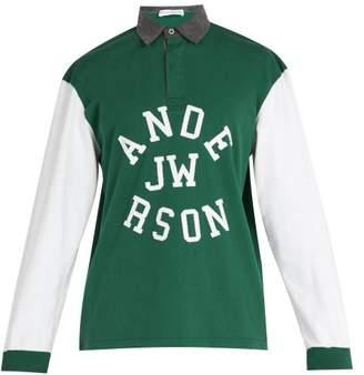 J.W.Anderson Logo Applique Cotton Polo Shirt - Mens - Green