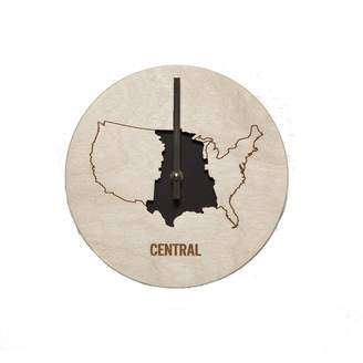 Wilson Reed Design Central Time Zone Wall Clock