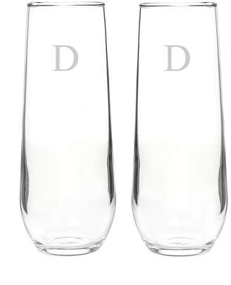 Cathy's Concepts Cathys Concepts 2-pc. Stemless Champagne Glass Set