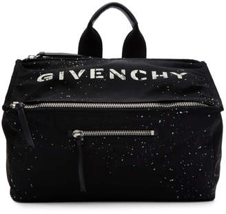 Givenchy Black Stencil Pandora Messenger Bag