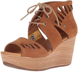 Caterpillar Women's Alma Ghillie Tie Platform Wedge Sandal