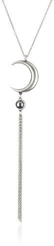 Low Luv x Erin Wasson by Erin Wasson Silver-Tone Crescent Pendant Necklace