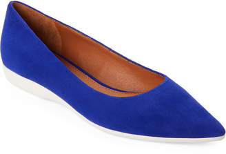Marc Fisher Royal Blue Dexie Suede Pointed Toe Flats
