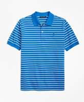 Brooks Brothers (ブルックス ブラザーズ) - BOYS GF コットンピケ シンストライプ ポロシャツ