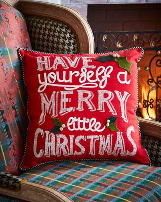 Mackenzie Childs MacKenzie-Childs Merry Little Christmas Pillow