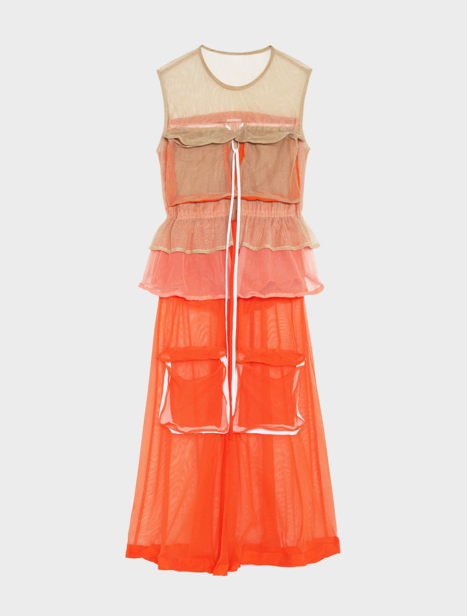 DKNYRunway Sleeveless Mesh Dress