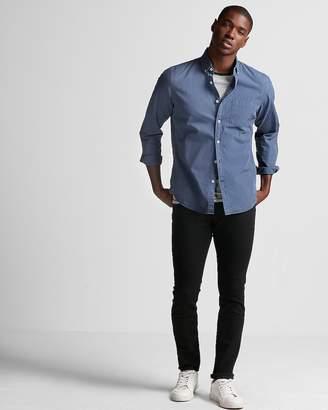 Express Slim Garment Dyed Washed Cotton Button Collar Shirt