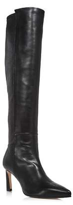 Stuart Weitzman Women's Demi Pointed Toe Leather High-Heel Tall Boots