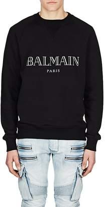 Balmain Men's Logo Cotton Raglan Sweatshirt