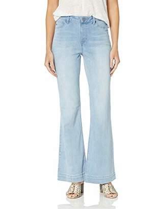 Laurie Felt Women's Silky Denim Flare Pull-On Jeans