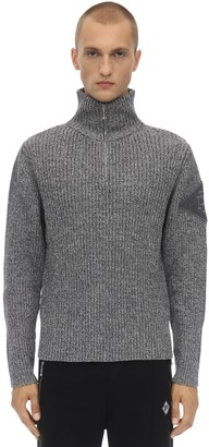 Diesel Gr Uniforma X Red Tag Zip-up Wool Knit Sweater