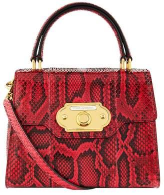 979bbfb1716b Dolce   Gabbana Welcome Python Top Handle Bag
