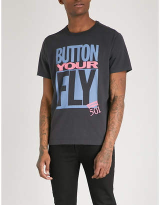 Levi's Button Your Fly cotton-jersey T-shirt