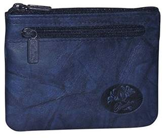Buxton Womens Leather Heiress Pik-me-up Framed Id Coin, Credit Card Case Holder Wallet , Change Purse (Navy)