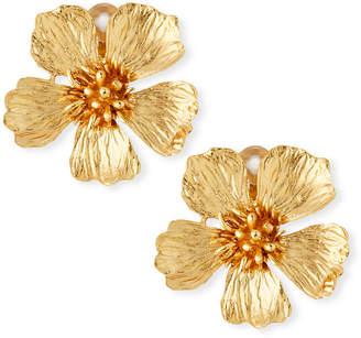 Oscar de la Renta Wildflower Clip-On Earrings