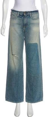 Simon Miller Distressed Mid-Rise Jeans