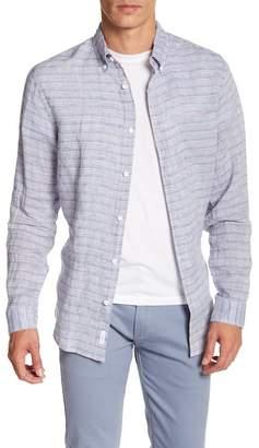 Onia Jay Long Sleeve Stripe Woven Regular Fit Shirt