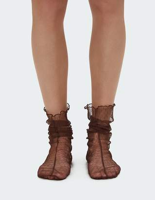 Rachel Comey Hynde Tulle Socks in Brown