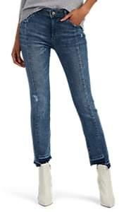 Dl 1961 Women's Mara Instasculpt Straight Ankle Jeans - Blue Size 27