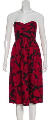 Tibi Silk Floral Dress