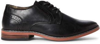 Steve Madden Kids Boys) Black Lack Brogue Derby Shoes