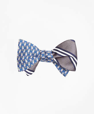 Brooks Brothers Koala Print with BB#1 Stripe Reversible Bow Tie