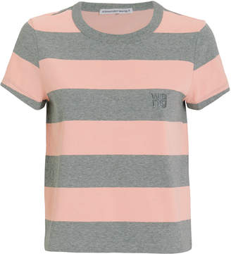Alexander Wang Wash & Go Striped Jersey Tee