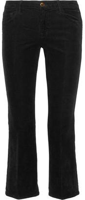 J Brand - Selena Cropped Corduroy Bootcut Pants - Black $200 thestylecure.com