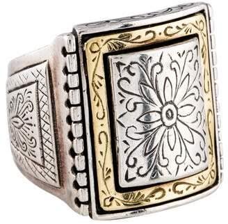 Konstantino Textured Signet Ring