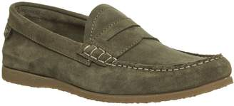 Ask the Missus Hill Penny Loafers Khaki Suede
