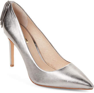 Louise et Cie Chrome Josely Pointed Toe Leather Pumps