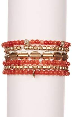 Schiff Marlyn Multi-Color Beaded Elastic Bracelets