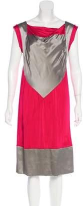Philosophy di Alberta Ferretti Colorblock Midi Dress
