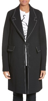 Women's Stella Mccartney Marcelline Topstitch Double Face Wool Coat $1,555 thestylecure.com