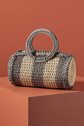 Kaanas Socorro Woven Top-Handled Clutch