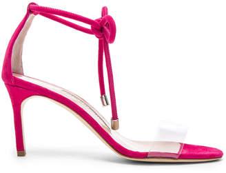 Suede Estro 70 Sandals in Fuxia Suede | FWRD