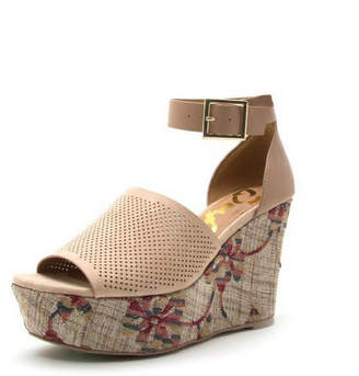 Qupid Ankle Strap Wedges