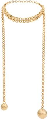 Bottega Veneta geometric pendants necklace