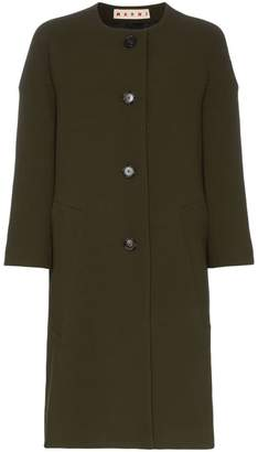 Marni cocoon single-breasted wool coat