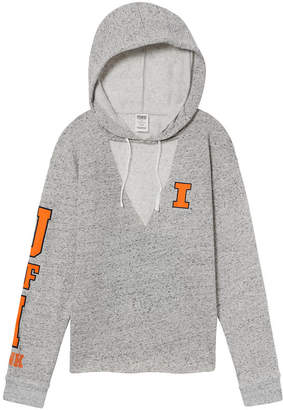 PINK University of Illinois Choker Neck Pullover Hoodie