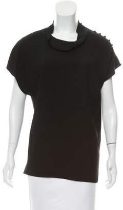 3.1 Phillip Lim Tonal Stitched Short Sleeve Top