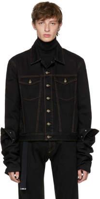 Y/Project Black Denim Asymmetric Sleeve Jacket