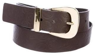 Michael Kors Leather Logo Embossed Belt