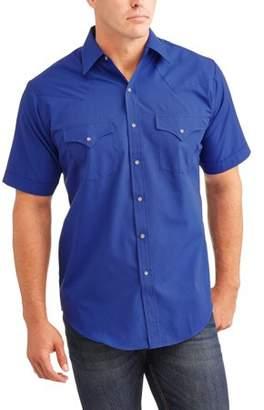 Plains Men's Short Sleeve Solid Western Shirt