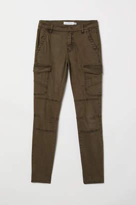 H&M Lyocell-blend Cargo Pants - Green