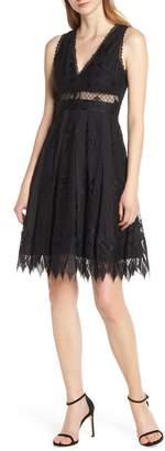Foxiedox Sabella Lace Fit & Flare Dress