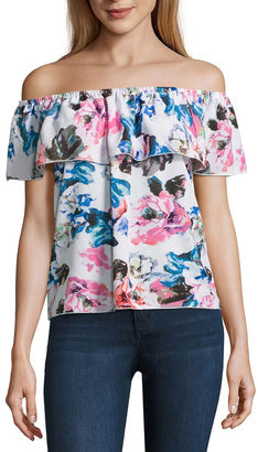 BUFFALO JEANS i jeans by Buffalo Ruffle Off The Shoulder Top $44 thestylecure.com