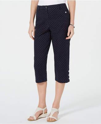 Karen Scott Polka Dot Capri Pants